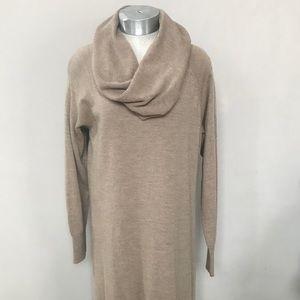 Beige/Black Wool CYNTHIA ROWLEY Sweater Dress 2X